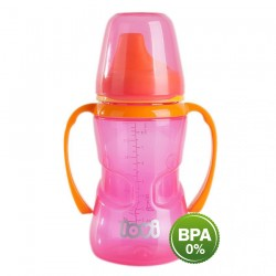 LOVI 250 ml non-spill firm spout 12+month-Pink
