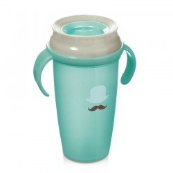 Lovi 360 cup RETRO with handles  (350 ml) ACTIVE - mint