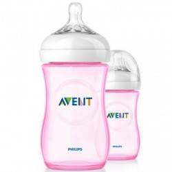 Philips Avent Natural (9oz / 260ml) Pink - Twin Pack