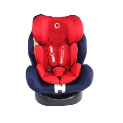 Hugo Baby Lorando Isofix Baby Car Seat, From Newborn to 6 years old, Up to 25kg (RED)