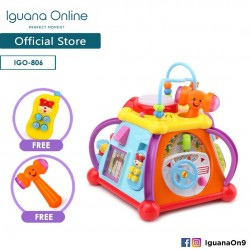 Iguana Online Baby Activity Musical Educational Toy Centre Musical Cube Play and Learning Toy With