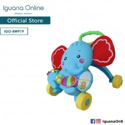 'Iguana Online Education Learning Baby Walker Car Activity Musical Piano (Elephant)'