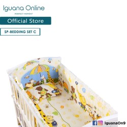Iguana Online 100% Cotton Baby Soft Crib Bedding Set Sheet Head Neck Body Support Pillow For WCT138