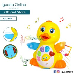 Iguana Online Early Education Electric Baby Toy Bump and Go Dancing Duck with Music for Children Ki