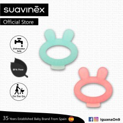 Suavinex BPA Free Newborn 0+ Bunny Teether with Case (Assorted Color)