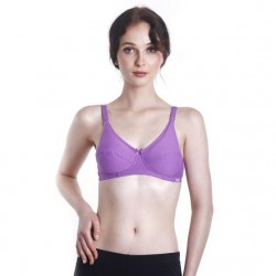 'Fabulous Mom Summertz Cotton Lightly Padded Nursing Bra (Violet)'