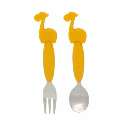 Marcus & Marcus Toddler Spoon & Fork Set (Yellow Lola)