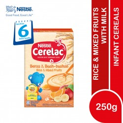 Nestle Cerelac Infant Cereals With Milk Rice and Mixed Fruits (250g)