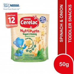 Nestle Cerelac Nutripuffs Toddler Snacks - Spinach & Onion (50g)