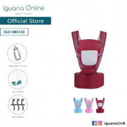 Iguana Online Seat Baby Carrier BBS103 with Four Seasons Breathable (Maroon Red)