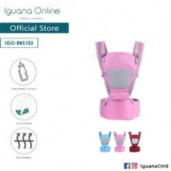 Iguana Online Seat Baby Carrier BBS103 with Four Seasons Breathable (Pink)