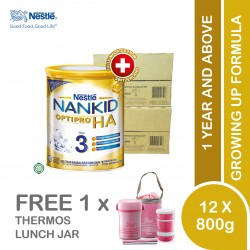 Nestle Nankid Optipro HA Stage 3 Hypoallergenic (800g x 12) [Free Thermos lunch jar]