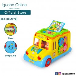 Iguana Educational Interactive Miniature Musical School Bus With 10 Different Animal Sounds And 8 Fun and Educational Ga