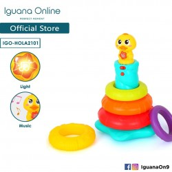 Iguana Online Colourful Musical Rainbow Lights Duck Stacking Toys with Melodies for Kids