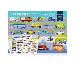 Mideer New Reusable Stickers Book (Traffic)