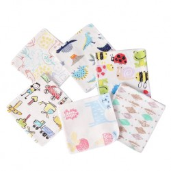 BabeSteps 4 pcs Infant Towel Handkerchiefs Two Layers (28x28cm)