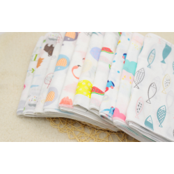 BabeSteps 5pcs Infant Towel Handkerchiefs Two Layers (25x25cm) Random - BS021