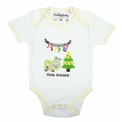 Trendyvalley Organic Cotton Baby Romper (Little Singer)