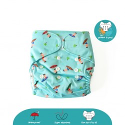 Cheekaaboo 2-in-1 Reusable Swim Diaper / Cloth Diaper - Surfer (6-36 months) - Summer Paradise