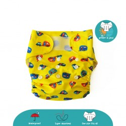 Cheekaaboo 2-in-1 Reusable Swim Diaper / Cloth Diaper - Camper Van (6-36 months) - Summer Paradise