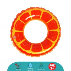Cheekaaboo Juicy Fruity Kids Swim Ring (Orange)