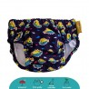 SWIM DIAPER-LIGHT BLUE / PUFFER FISH