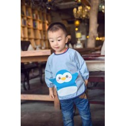Earth Bebe Convertible Sleeve Bib (Blue Peguin)