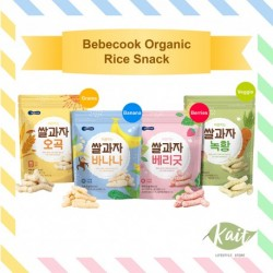Bebecook Wise Mom Organic Rice Snack - 7m+ (25g x 2) [Double Combo]