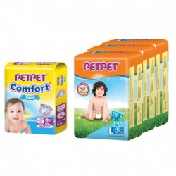 Pet Pet Jumbo L40 x 3 Packs + Comfort Tape x 1 (FREE Vcoool Nursing Cover worth RM49)