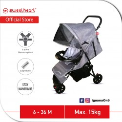 Sweet Heart Paris 3 Wheels Compact Fold Stroller ST310 with Easier Maneuvering and Maximum Mobility