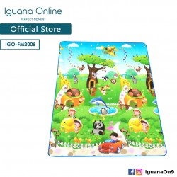 Iguana Online Baby Alphabet Cartoon Carpet FM2005 Folding Playable Floor Mat for Infant 180 x 200cm