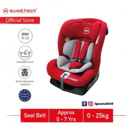 Sweet Heart Paris Group 012 CS DRANCY Safety Car Seat with Side Protection ECE R44/04 Verified (Red)