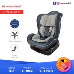 Sweet Heart Paris CS226 Group 01 Baby Car Seat Assurance JPJ Approved MIROS and ECE R44/04 Certified (Grey White)