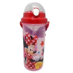 DISNEY MINNIE MOUSE SUMMER 650ML WATER BOTTLE WITH STRAW * BPA FREE