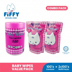 'FIFFY BABY WIPES (1 CAN + 2 REFILL PACK) - 19467890