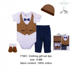 Little Treasure Clothing Gift Set - Herringbone Vest (4pcs)