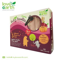 Love Earth Organic Baby Noodles Beetroot, Pumpkin & Plan Wheat 180g (30g X 6 Serving)