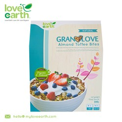 Love Earth Almond Toffee Bite Granolove 300g