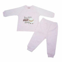 Trendyvalley Organic Cotton Baby Long Sleeve Pyjamas Set (Baa Sheep/Pink)