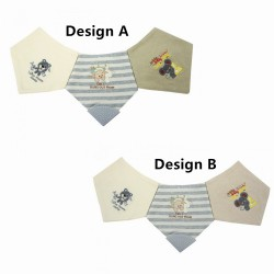 Trendyvalley Organic Cotton Baby Bibs (3 Designs)