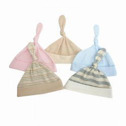 Trendyvalley Organic Cotton Baby Hat (Knot Design)