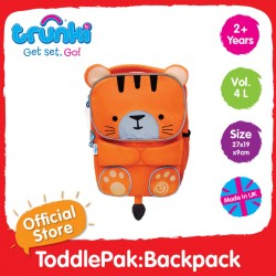 Trunki ToddlePak Backpack (Tiger) - Fancy Backpacks for Children
