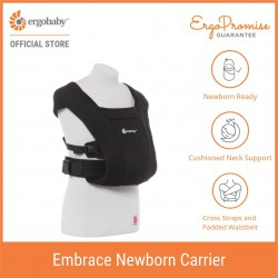 Ergobaby Embrace Cozy Newborn Carrier (Pure Black)