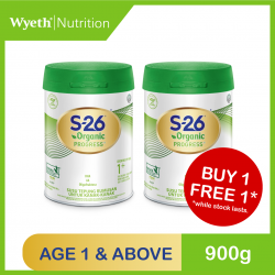 Wyeth S-26 Organic Progress 900g (For Children 1 Year and Above) (Buy 1 FREE 1)