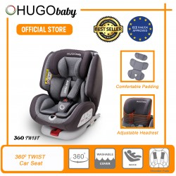 JPJ APPROVED Hugo Baby 360 Twist Baby Car Seat (Grey)