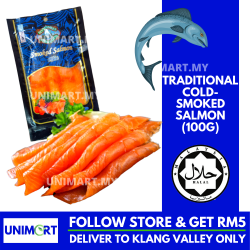 UNIMART Bonfisken Deli Traditional Cold-Smoked Salmon 100g