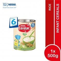 New Formula Nestle Cerelac Infant Cereals Rice 500G (6 Months+) NO SUGAR ADDED