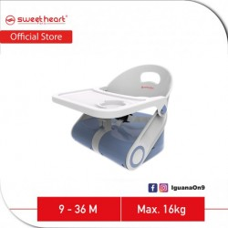 Sweet Heart Paris Portable Foldable Travel Feeding Dining Booster High Chair HC2511 with Food Tray (Blue)