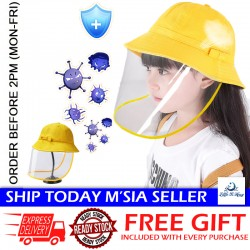Little B House Baby Kids Protective Hat with Face Shield Fisherman Hat Anti Splash Virus - HAT02