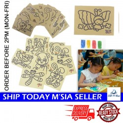 Little B House Colorful Sand Painting Pictures DIY Color Sand Painting Art Sand Paper For Kids - BT262